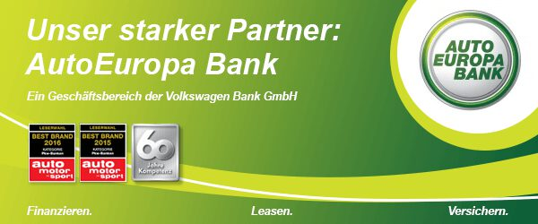 Werbebanner Auto Europa Bank